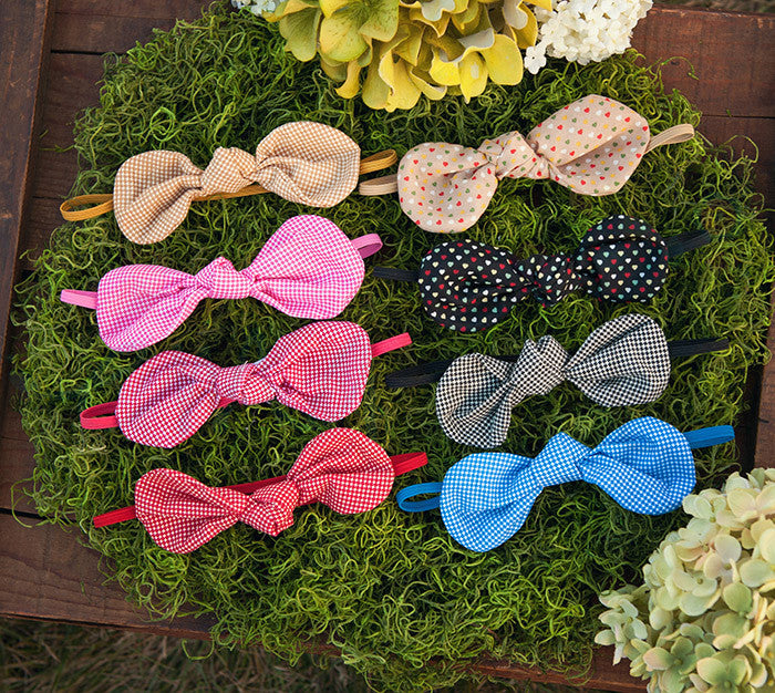 Patterned Fabric Bow Knot Headbands (Set) - Ema Jane