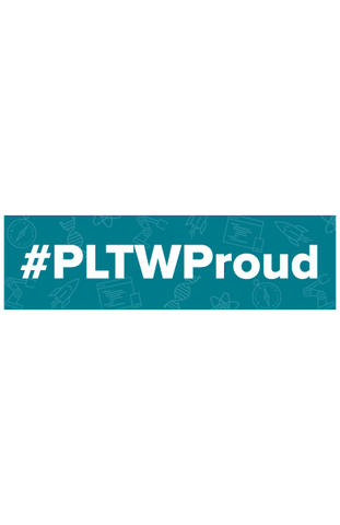 #PLTWProud Laptop Sticker