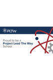 Proud to be a PLTW School Small (Navy)