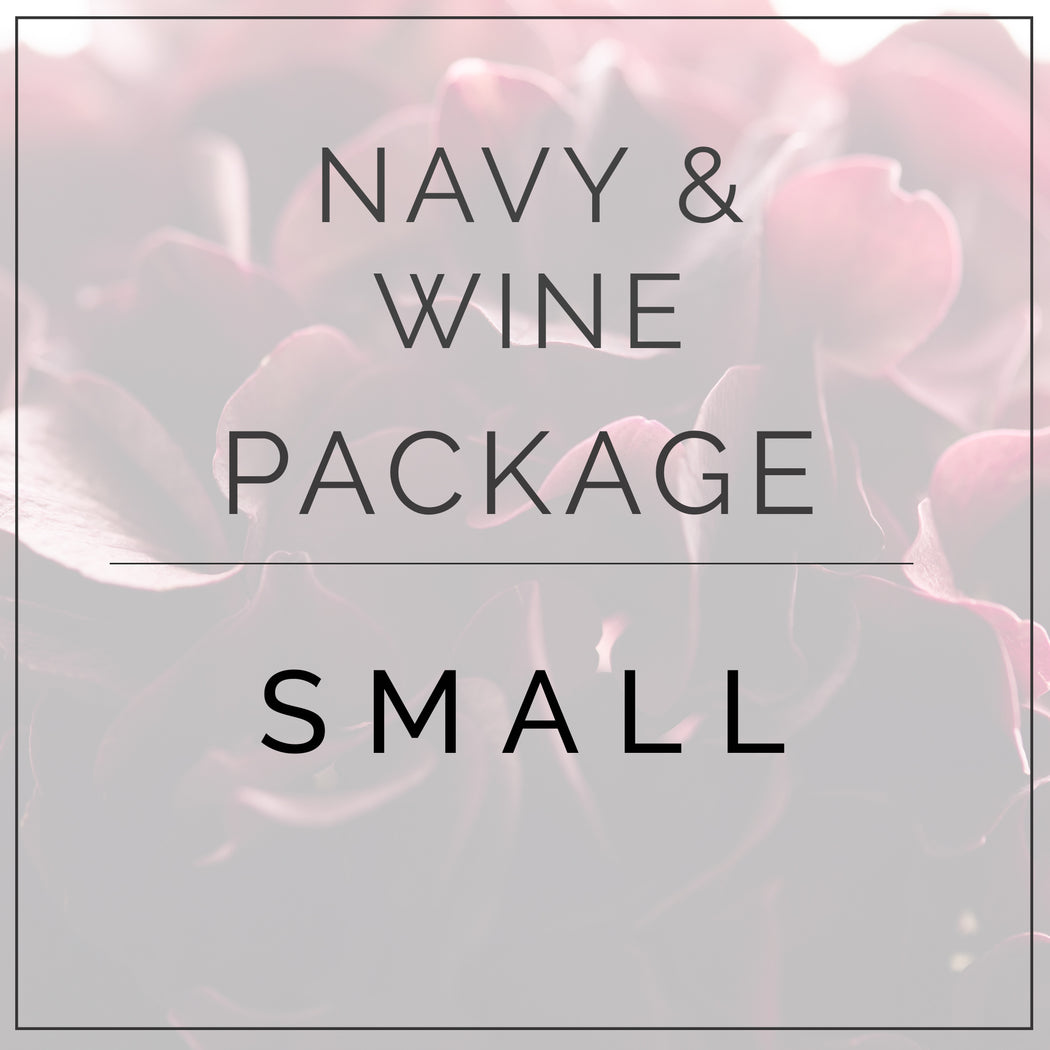 Navy and Wine - Small Package