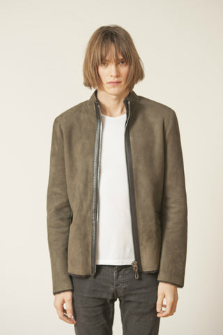 SHEARLING CROPPED JACKET