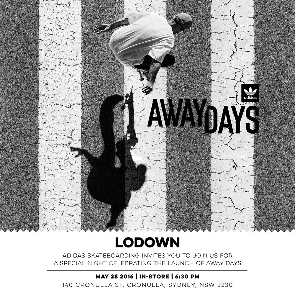 In store Adidas Away Days Premiere