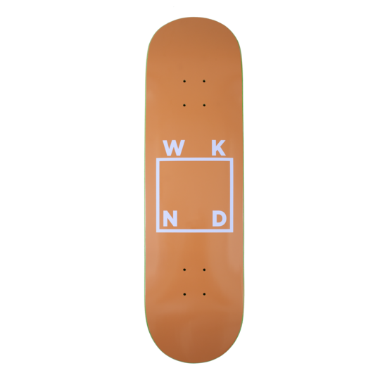 WKND SKATEBOARDS BRAND LOGO DECK TAN 8.3""