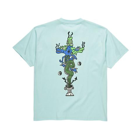 POLAR SKATE CO DRAGON TEE AQUAMARINE