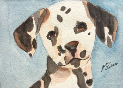 Watercolor: Dalmatian Puppy
