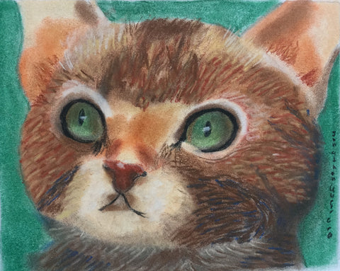 Pastel: The Red Cat.