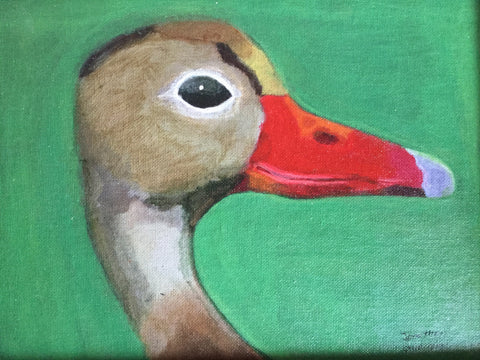 Acrylic: Female Duck