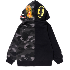 DC x Bape Color Camo Full Zip Hoodie - Black/Grey Camo