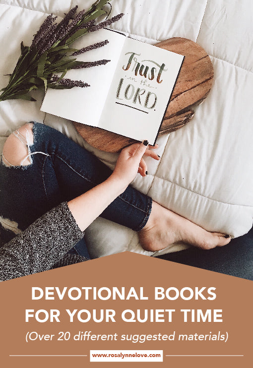 Devotional Books For Your Quiet Time