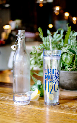 Drink More H2O - Tumbler - Rosalynne Love