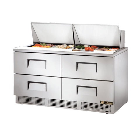 "TRUE 64"" 4 DRAWER FOOD PREP TABLE - TFP-64-24M-D-4 - Nella Cutlery Toronto"