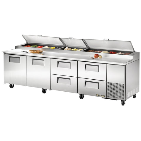 "TRUE 119"" 15 PAN PIZZA PREP TABLE - TPP-119D-4"
