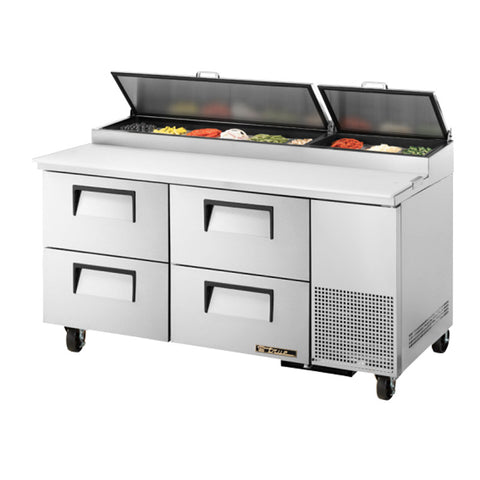 "TRUE 67"" 9 PAN PIZZA PREP TABLE - TPP-67D-4 - Nella Cutlery Toronto"