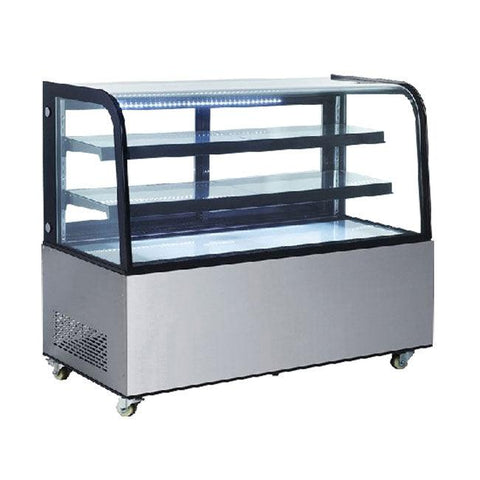 "New Air NDC-017-CG 60"" Curved Glass Refrigerated Display Case"