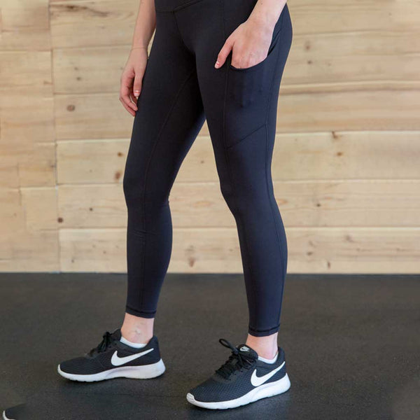 OMNILUX All Day Legging Black - High Rise w/ Side Pockets