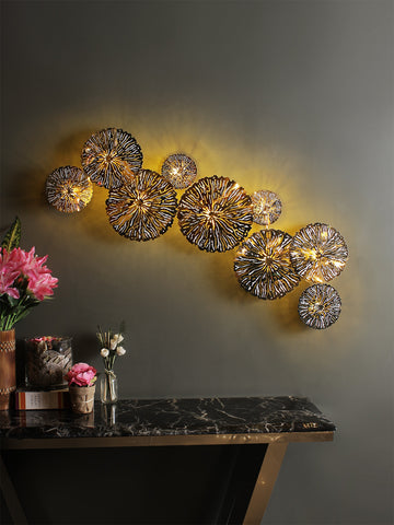 Christos Gold Disc Wall Light | Buy Modern Wall Lights Online India