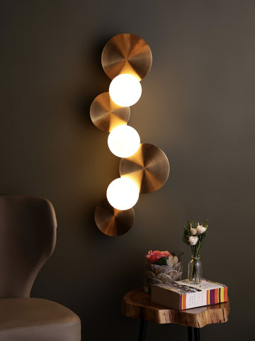 Dean Globes Gold Wall Light | Buy Modern Wall Lights Online India