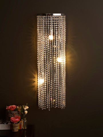Clarissa Crystal Waterfall Wall Light | Buy Crystal Wall Lights Online India