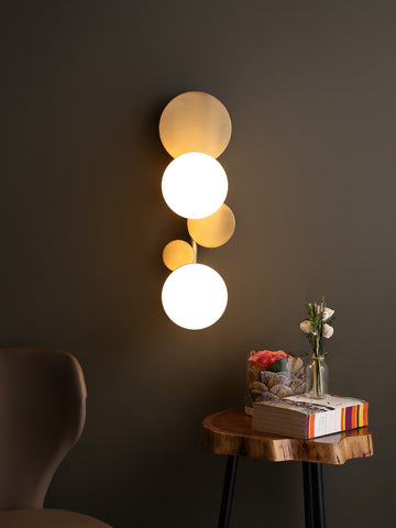 Aquille Globes Gold Wall Light | Buy Modern Wall Lights Online India