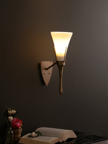 Bosville Glass with Gold Frame Wall Light | Buy Modern Wall Lights Online India
