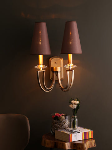 Carmille Brown Shade Wall Light | Buy Modern Wall Lights Online India