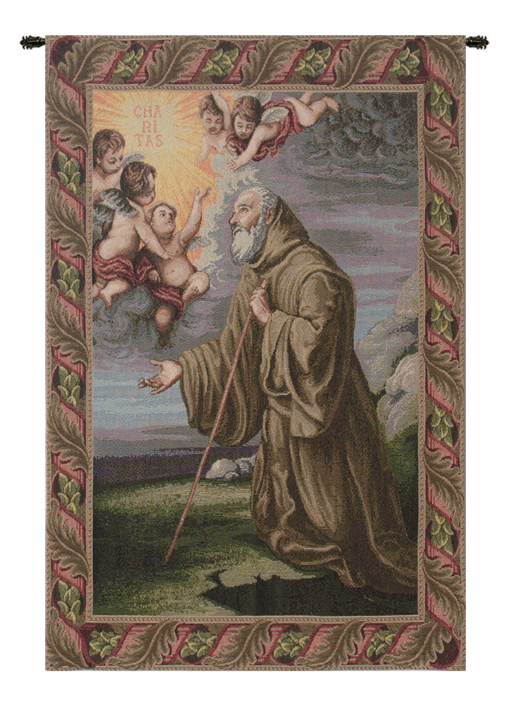 Saint Frances from Paola Italian Tapestry