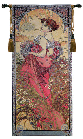 Mucha Summer European Wall Tapestry - Tapestry Zest