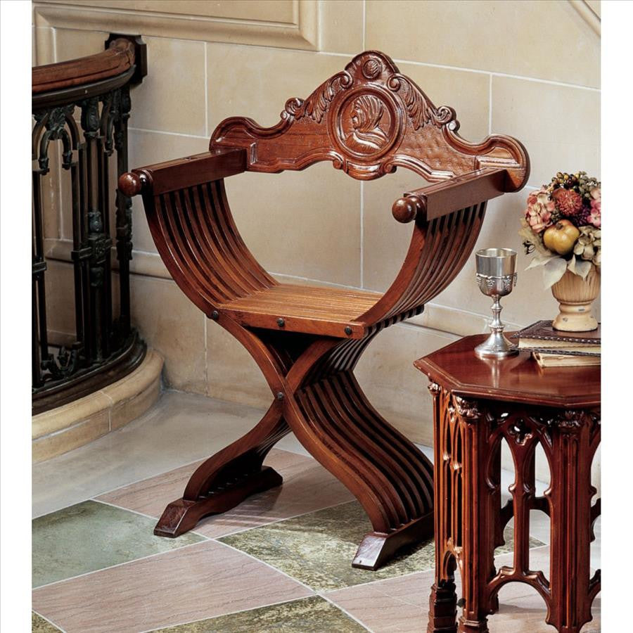 Savonarola Chair - Tapestry Zest