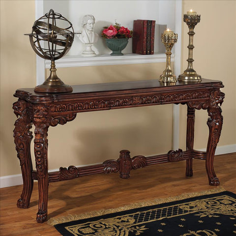 Lord Raffles Lion Leg Console Table - Tapestry Zest