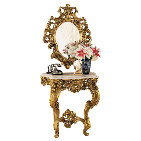 Madame Antoinette Console and Mirror Set