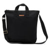 Natural 100% Cotton Medium Blank Black Canvas Adult Zipper Lined Tote Bag