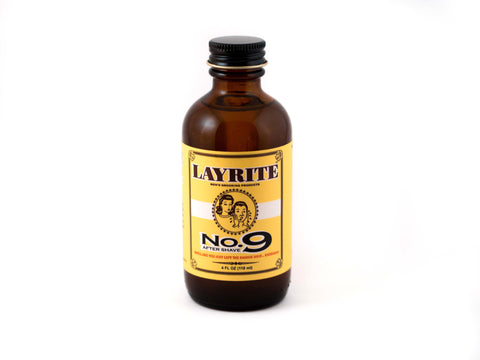 LAYRITE: NO. 9 BAY RUM AFTERSHAVE, 40Z