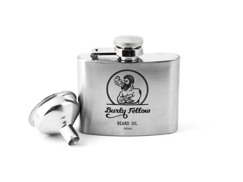 BURLY FELLOW: BEARD OIL FLASK - LIME AND MINT, 50ML