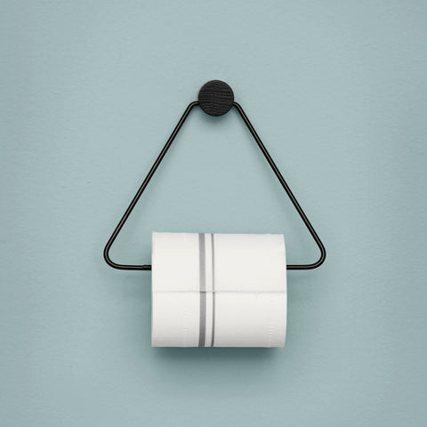 Bathroom Toilet Paper Holder: Black - The Union Project
