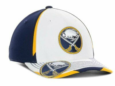 Buffalo Sabres NHL Reebok Second Season Hat Cap White / Blue Flex Fit Men's S/M