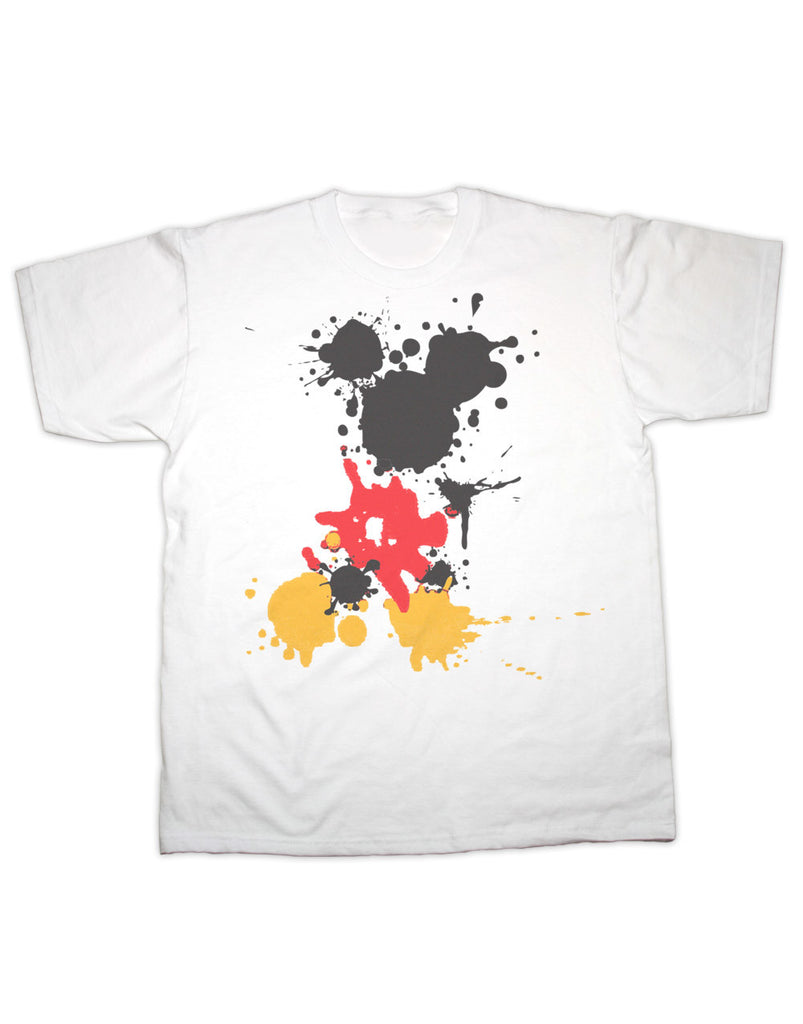 Mickey Mouse Splatter Print T Shirt