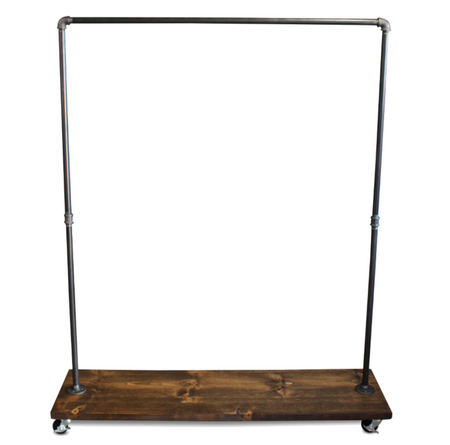 90S Single Shelf - Industrial Clothes Rack
