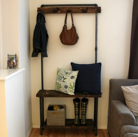 Industrial Hall Tree - Coat Rack