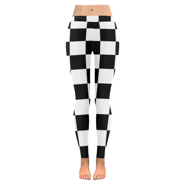 BJai Checkered white Low Rise Leggings