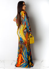 Standing Out Long Sleeve Maxi Dress