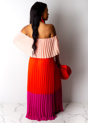 Starting Over Pleated Maxi Dress