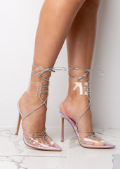 Clear Pointed Iridescent High Heel