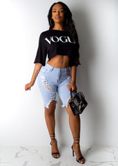 Vogue Crop Top