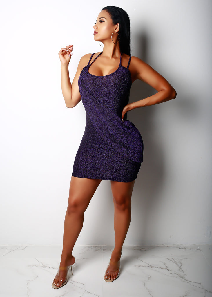Purple Kourt Mini Dress