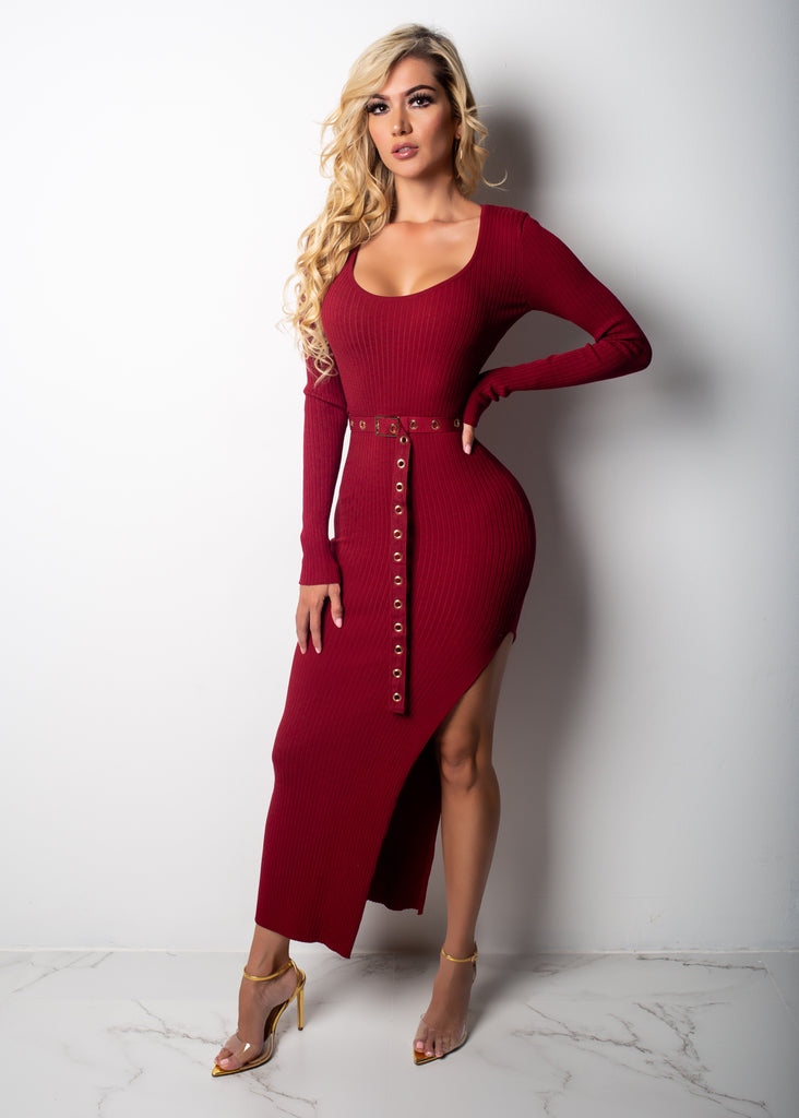 "Shorty Bad ""SlimThick"" Midi Dress"