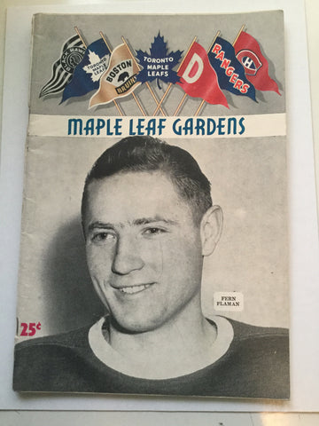 Toronto Maple Leafs hockey game program Feb.18,1953