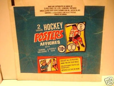 WHA rare Hockey posters wrapper 1974