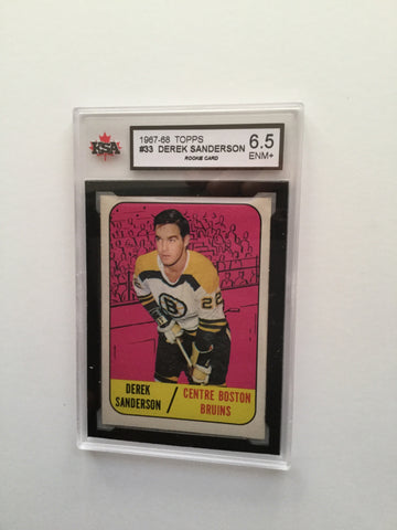 Derek Sanderson rare high grade hockey rookie card