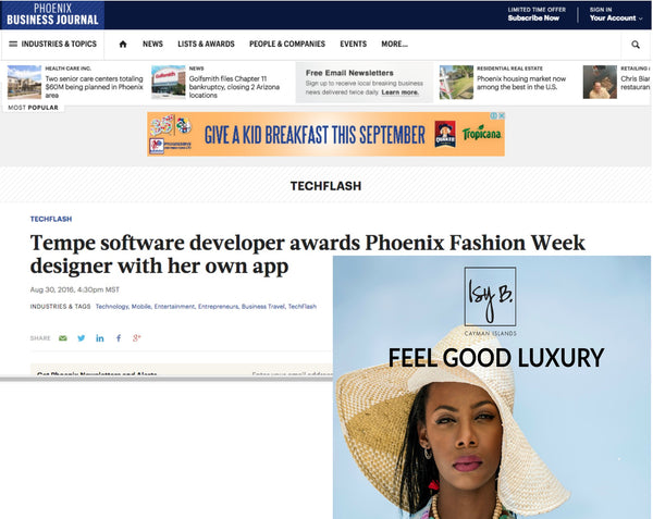Phoenix Business Journal - Isy B. Designs Winning Shopgate App at Fashion Week