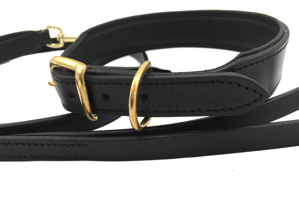 The Vintage Collar & Leash Collection (Liquorice Black) - DoggyHQ